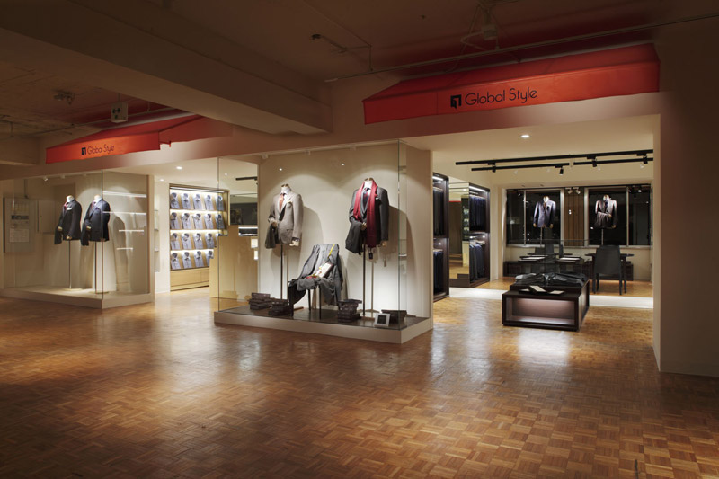 Global Style 北船場店,オーダースーツショップ,2009,大阪府,設計デザイン,PROCESS5 DESIGN
