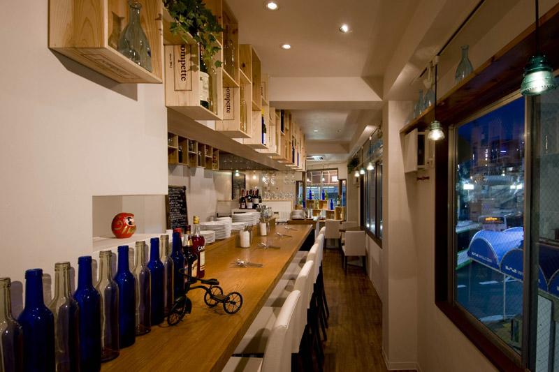 フレンチ小皿料理店 pompette,フレンチレストラン,2012,兵庫県,設計デザイン,PROCESS5 DESIGN