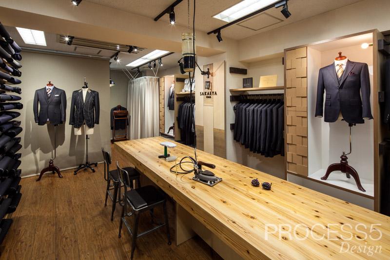 SAKAEYA 東京駅店,フルオーダースーツショップ,2015,東京都,設計デザイン,PROCESS5 DESIGN