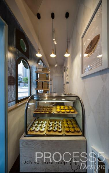Uchiya Bake Shop 谷六ポルトハウス,焼き菓子屋,2015,大阪府,設計デザイン,PROCESS5 DESIGN